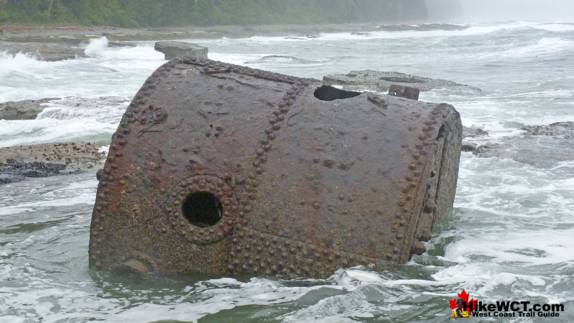 The Boiler from the Michigan Shipwreck