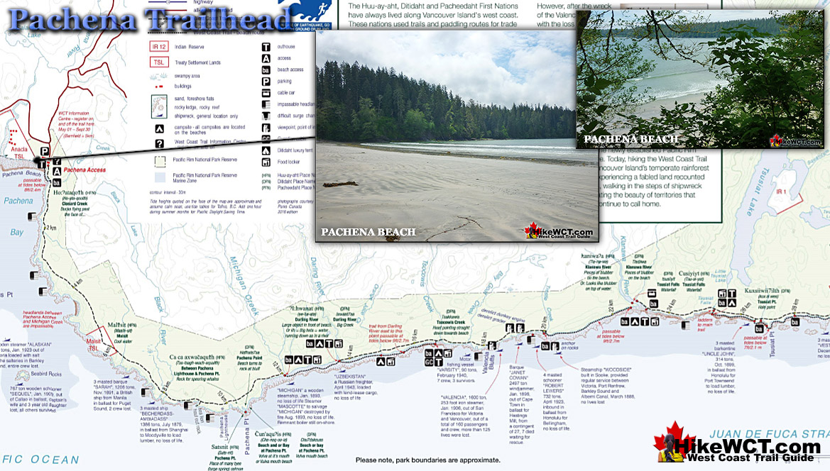 Pachena Trailhead Map - West Coast Trail