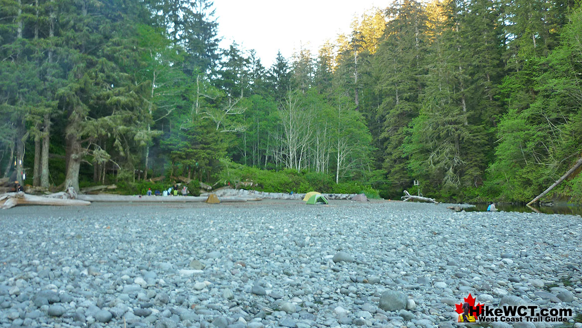 Camper Creek Campground on the West Coast Trail