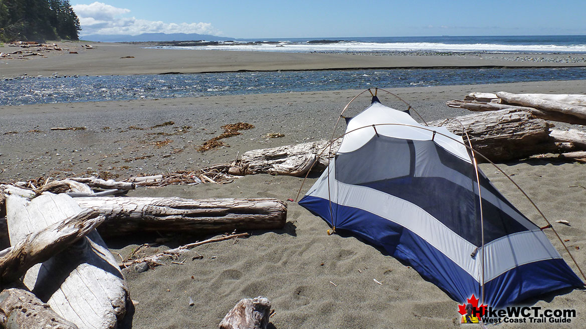 Carmanah Creek Campsite Tent on the West Coast Trail